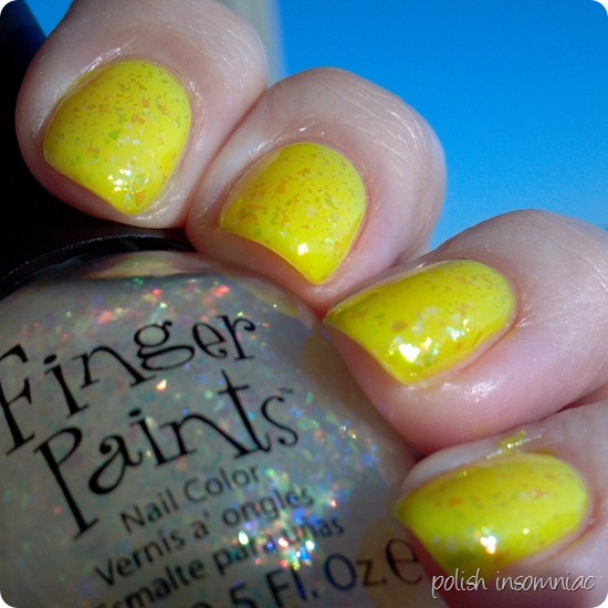 FingerPaints Asylum over Bootie Babe Electric Lemon