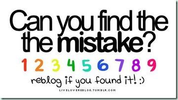 1 to 9 error