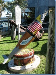 6709 Texas, Port Isabel - Pirate's Landing dolphin statue
