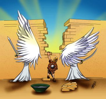 Intercessão - ilustração da série Avulsas (Arthur Phillip em guedart.wordpress.com)