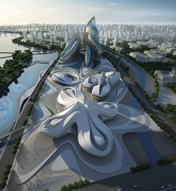 changsha meixihu international culture & art centre by zaha hadid architects 1