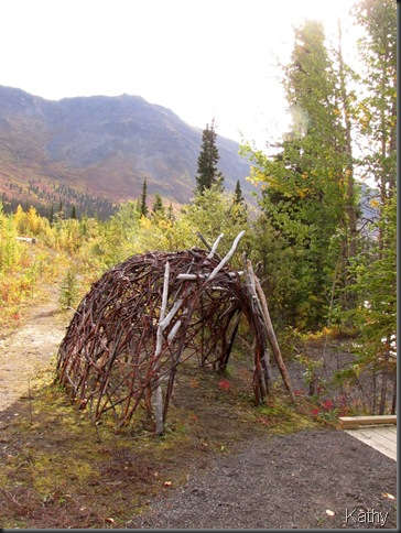 Beaver lodge sculpture