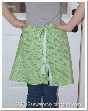 vintage apron back