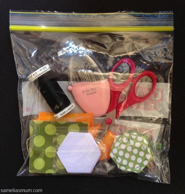 Glad Snap Lock Bag - Hexagons