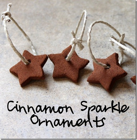cinnamon sparkle ornaments
