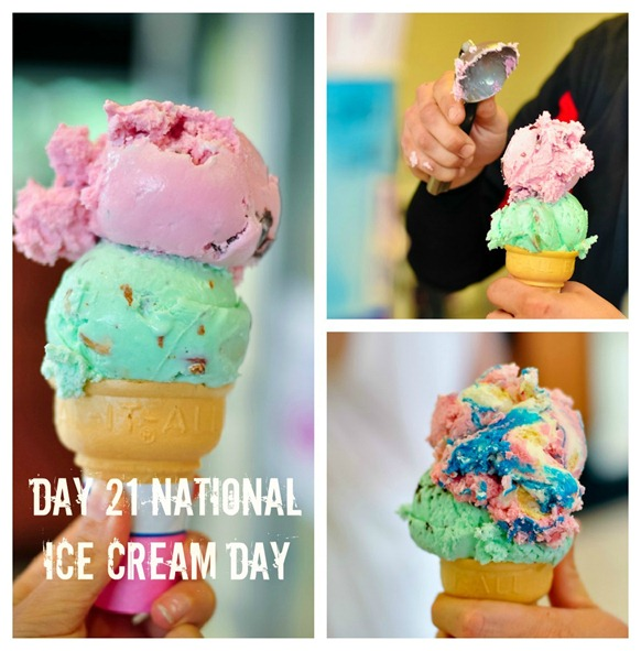 national ice cream day Collage