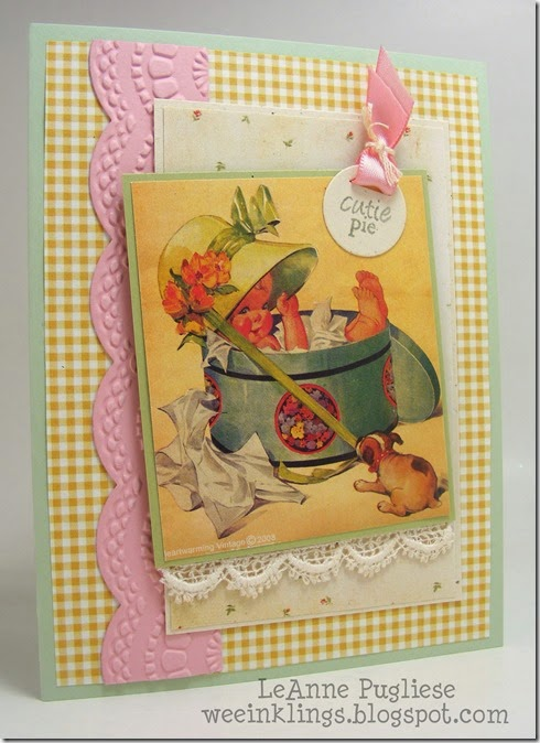 LeAnne Pugliese WeeInklings Crafty Secrets Baby Card Stampin