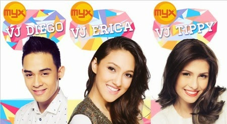 Diego, Erica and Tippy - New MYX VJs
