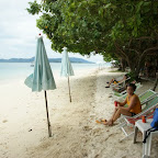 kühler Drink an der Beach direkt beim letzten Ankerplatz