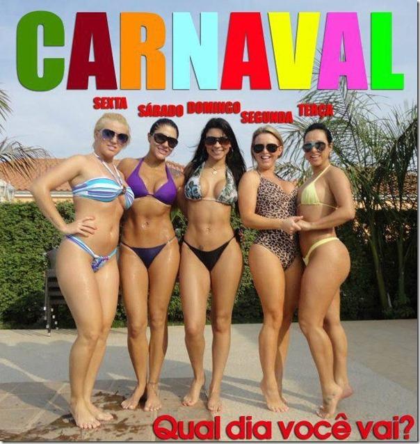Qual dia do carnaval você vai Eu vou em todos