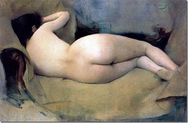 ramon casas i carbo_Figura desnuda