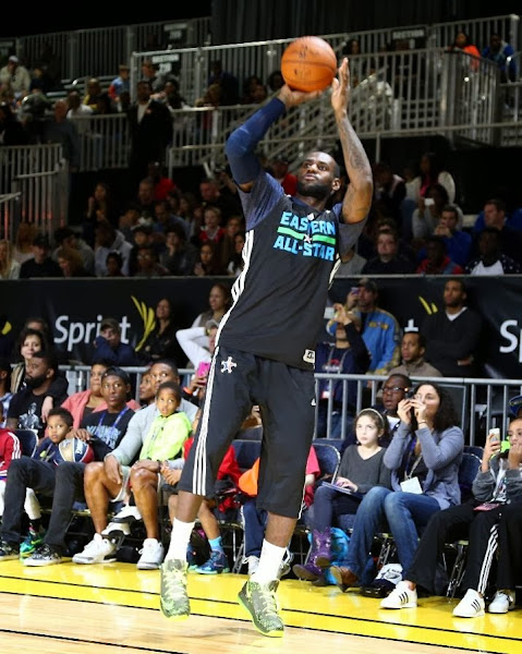 lebron james nba 140215 all star new orleans 01 practice King James Goes Dunkman During NBA All Star Saturday