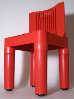 Child's chair designed in 1964 by Marco Zanuso and Richard Sapper for Kartell, Italy