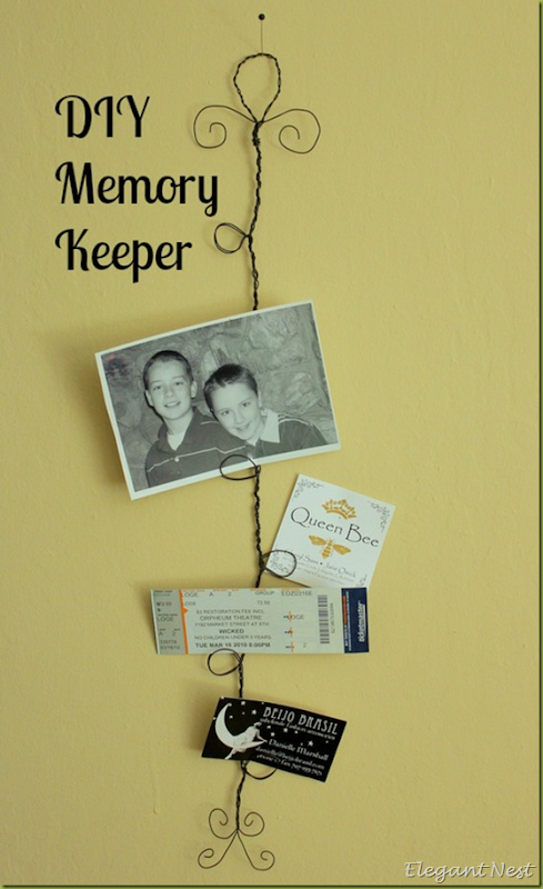 DIY Wire Memory Keeper