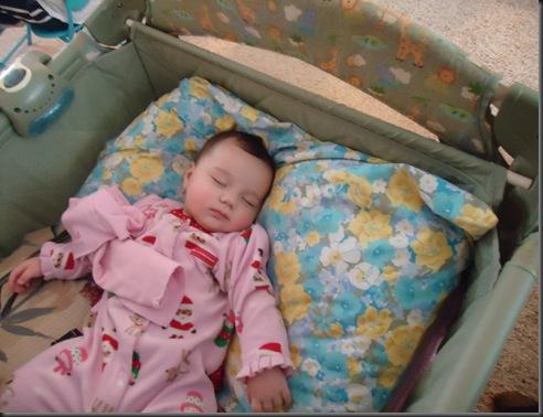 Miranda sleepiing
