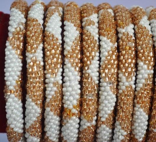 Rollover White Series Bead Bracelets