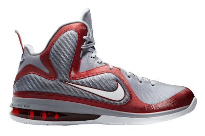 nike lebron 9 gr ohio state grey 2 01 Upcoming Nike LeBron 9 Ohio State Buckeyes Catalog Images