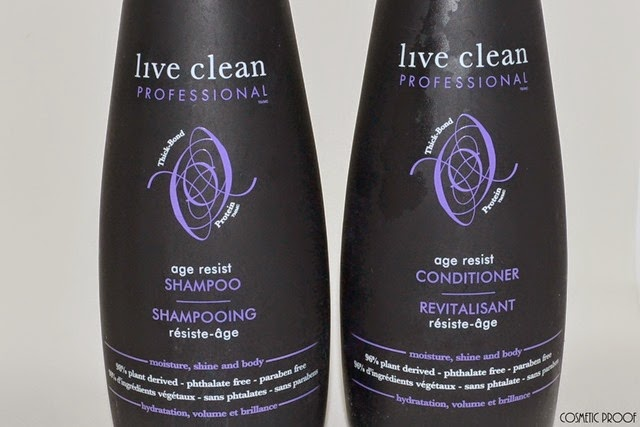 Live Clean Age Resist Age Shampoo and Conditioner Review