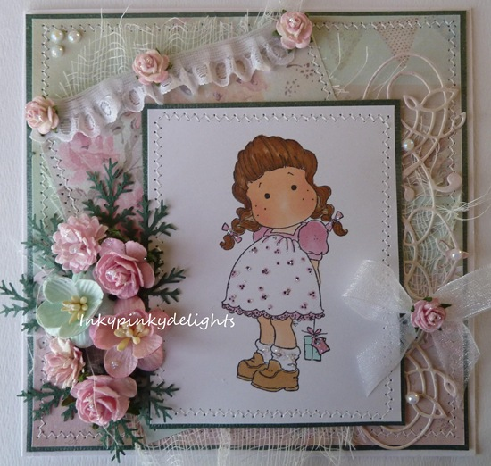 Inkypinkydelights GDT Papertake Weekly April  17 StitchingMAGNOLIA TILDA