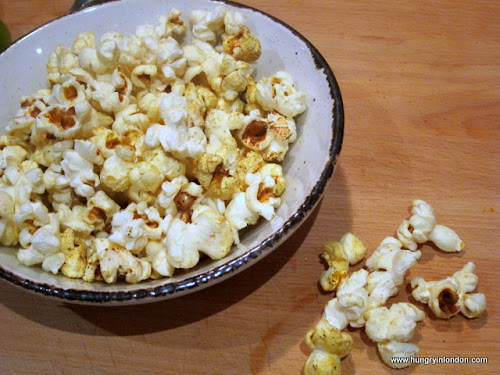Ute cooks:  SPICY INDIAN POPCORN