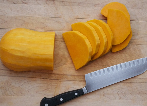 Slicing Butternut Squash
