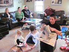 Christmas Holiday 12.23.12 family opening presents
