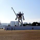 giant gundam robot in tokyo bay in Odaiba, Tokyo, Japan