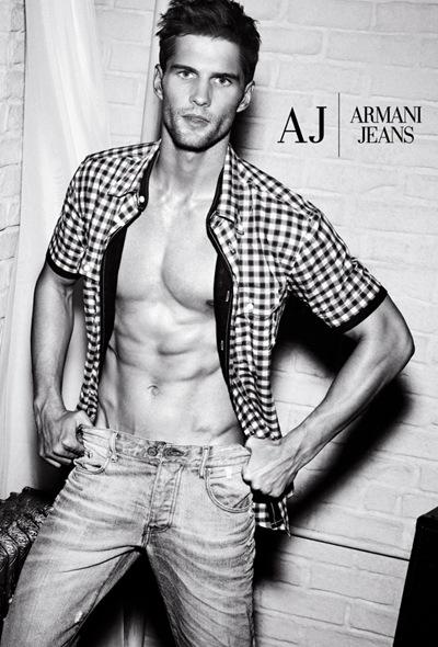 Tomas Skoloudik for Emporio Armani Underwear + Armani Jeans S/S 2012.  Photography by Giampaolo Sgura