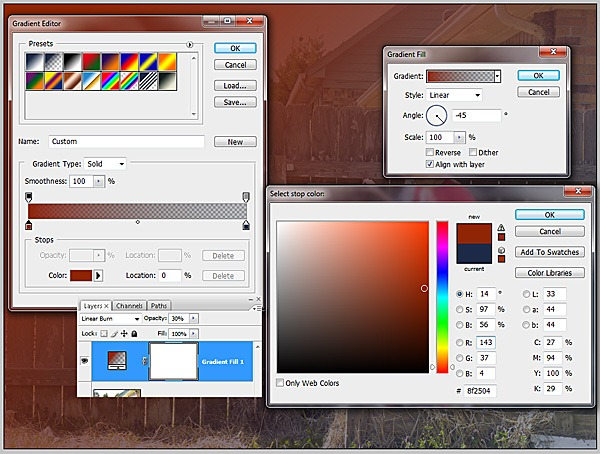 step1 - add gradient