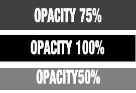 opacity range