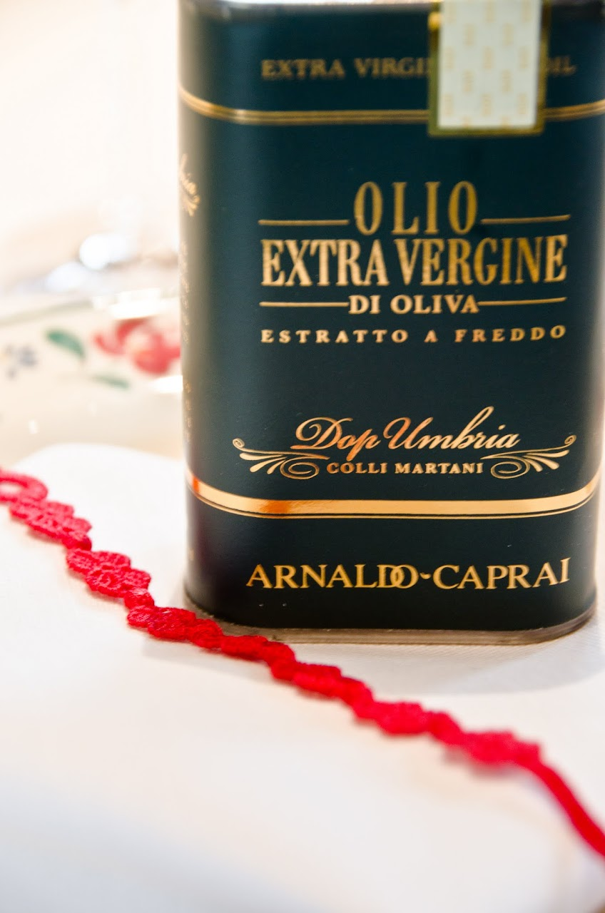 Caprai olive oil and bracelet
