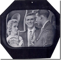 American Bandstand Justine  Bob and Dick Clark