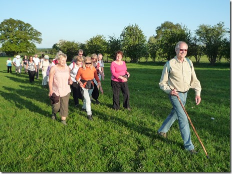 Paul Boniface leads the South Cheshire Ramblers along the Nantwich Riverside Loop