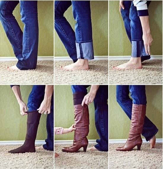 usar calça jean botas