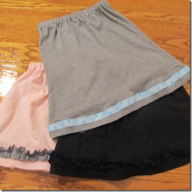 New T-shirt skirts!