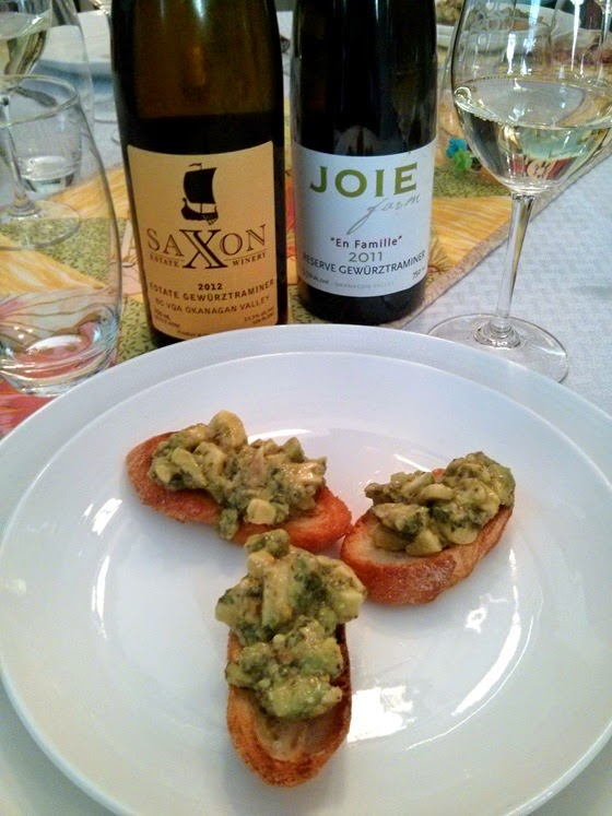 "Saxon & Joie Gewurztraminer with ""Latin Bruschetta"""