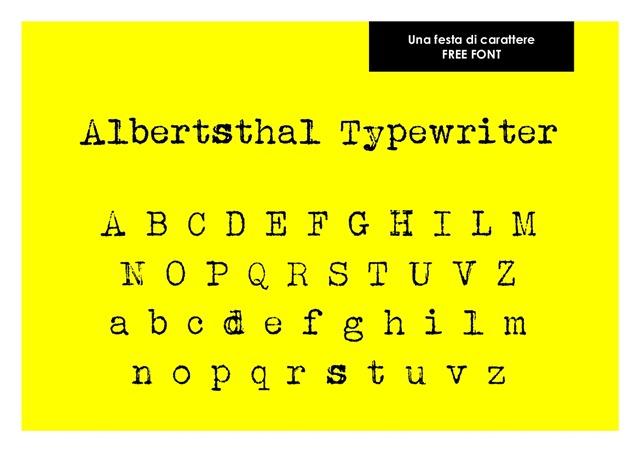 Una festa di carattere Albertsthal Typewriter