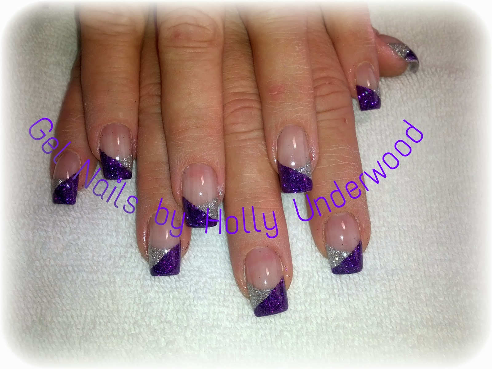 purple and silver Gel Nails in Washington and St George Utah area