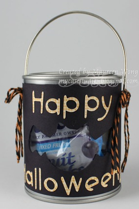 Mini Halloween Candy Pail 1a
