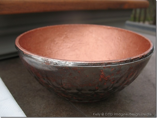 copper mercury glass