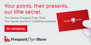 The offending content on the Qantas website - Secret Santa