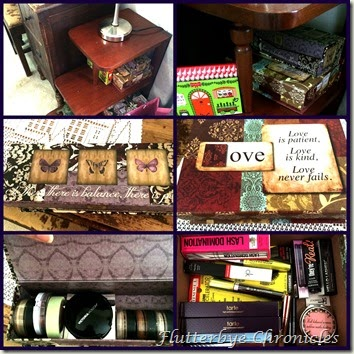 side table makeup boxes
