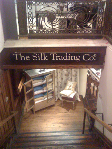 Approaching the descent into the Silk Trading Company, on the lower level of ABC Carpet & Home.
