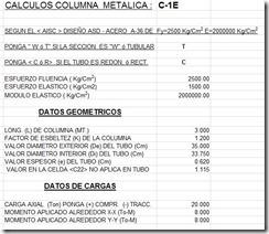 Calculo de columna metalica