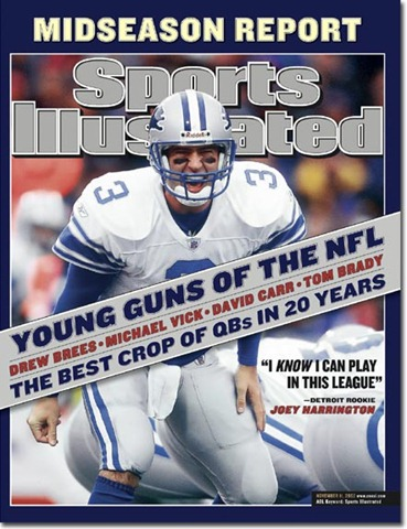 Joey Harrington on the cover of Sports Illustrated.