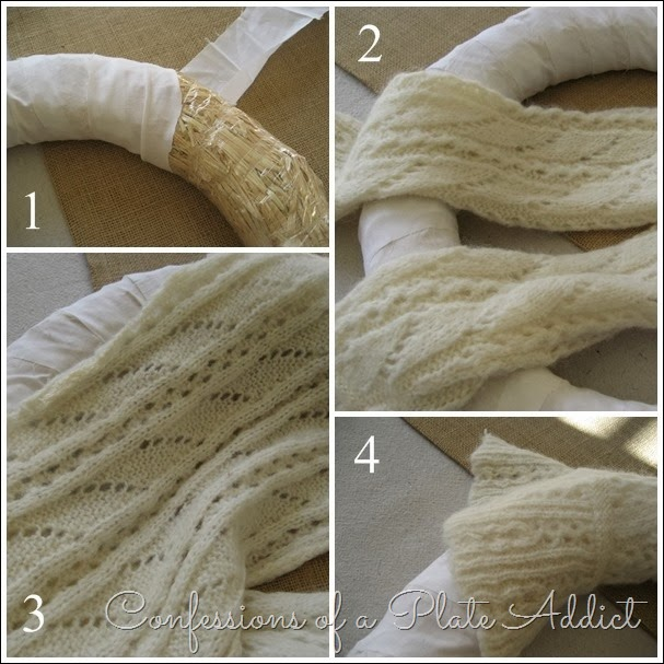 CONFESSIONS OF A PLATE ADDICT Sweater Wreath Tutorial