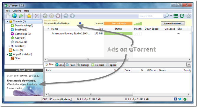utorrent disable ads 2018