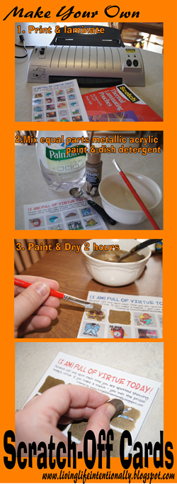 How to make your own scratch off cards