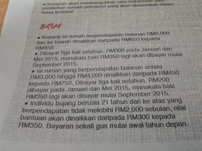 Belanjawan 2015 | BR1M 2015
