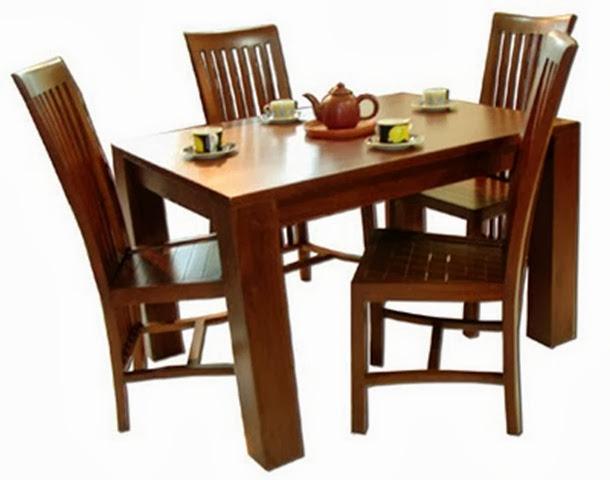 meja makan minimalis 4 kursi